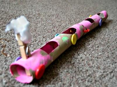 Project: Recycle & Create cardboard tube train