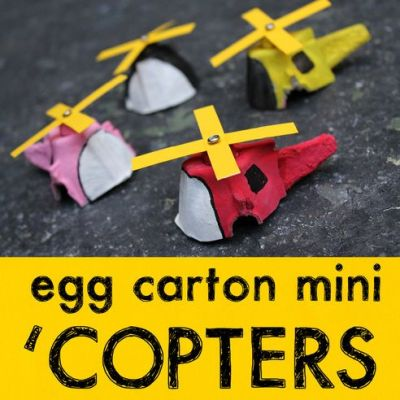 Egg Carton mini Helicopters
