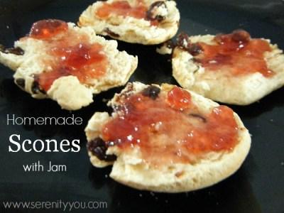 homemade scones with jam