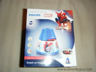 Spiderman Night Light and Projector in box