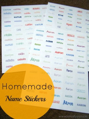 Handmade kids Name Stickers