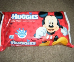 Mickey Mouse on Huggies Baby Wipes