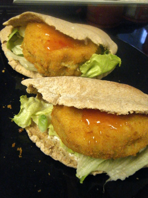 mash direct vegi burgers in pitta bread