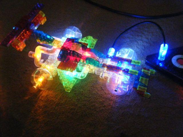 laser pegs light up