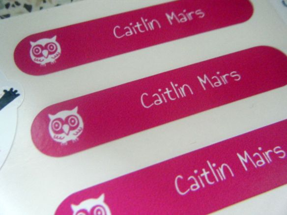 petit fernand stickers  - children's name stickers with owls