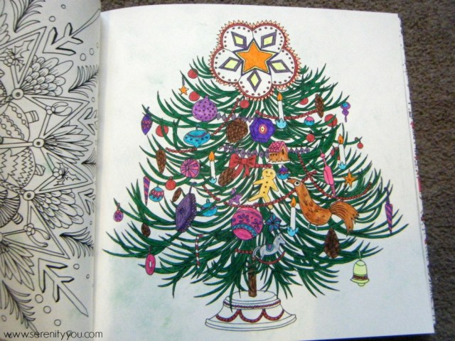 The Escape to Christmas past adult colouring book