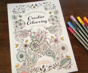 Personalised Creative Colouring Book Review and a Look Inside