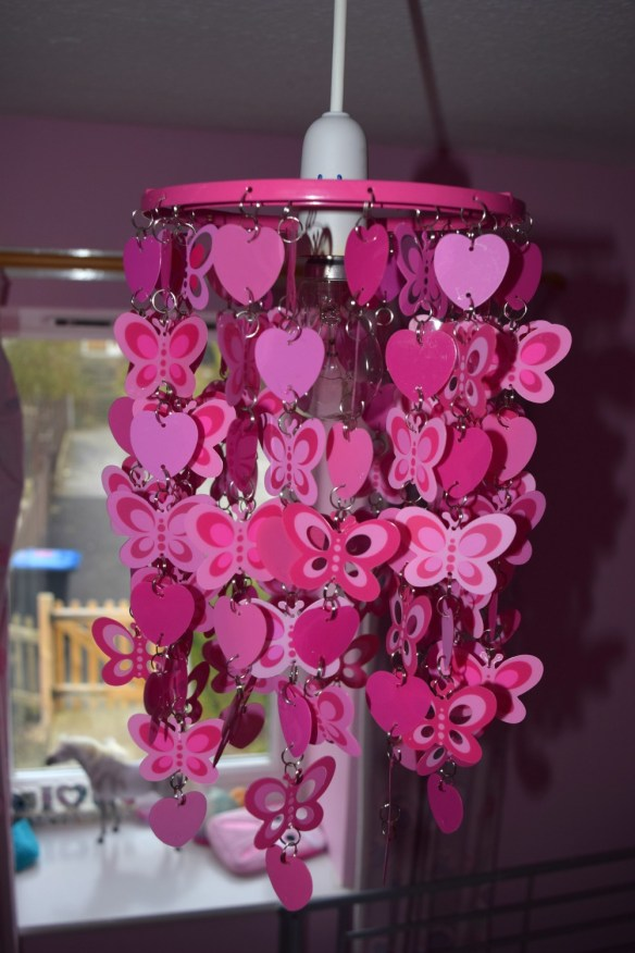 Heart and butterfly light shade 3