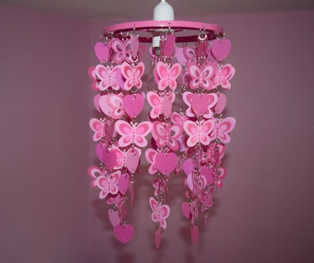 heart and butterfly light shade 4