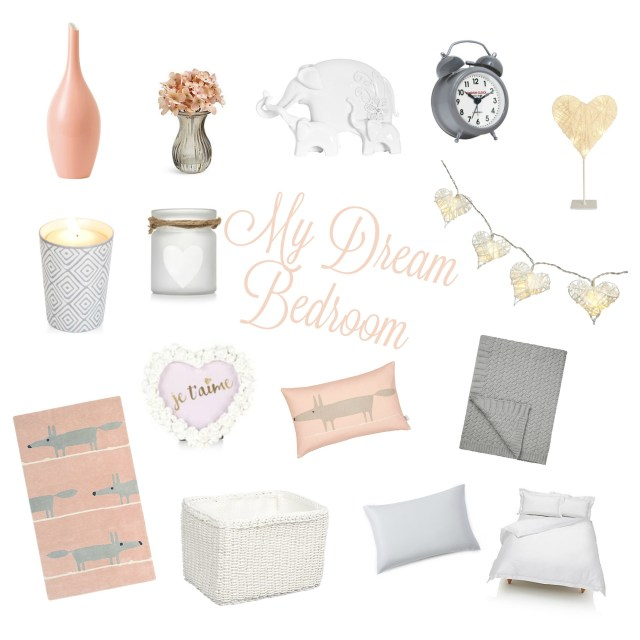 My dream Bedroom - pink, white and grey