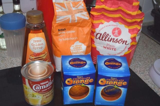 Terry's Chocolate Orange Millionaires Shortbread Recipe ingredients