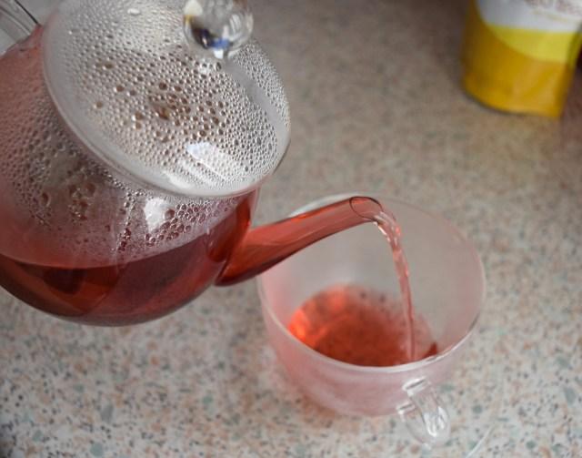 Adagio tea - Berry blue - glass tea pot