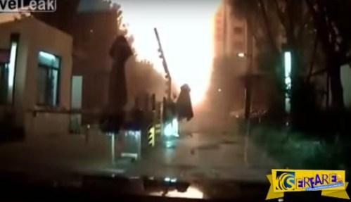 Νέο βίντεο της τρομακτικής έκρηξης στο Tianjin απο κάμερα αυτοκινήτου!