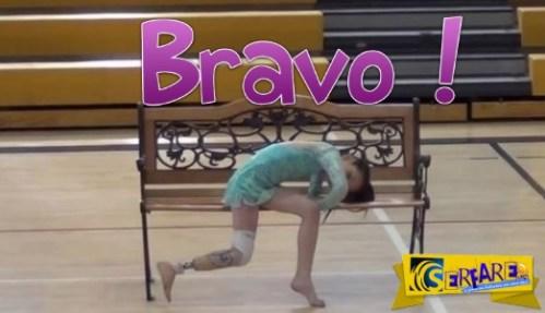 Έχασε το πόδι της σε ένα ατύχημα. Όταν όμως ανεβαίνει στη σκηνή για χορέψει, κάνει αυτό!