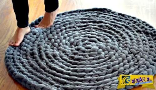 Πώς θα φτιάξετε ένα φανταστικό πλεκτό χαλί χωρίς βελόνες!