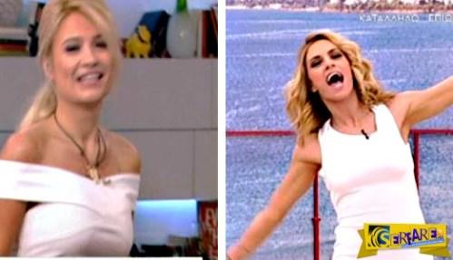 Φαίη Σκορδά – Ντορέττα Παπαδημητρίου: Εμφανίστηκαν και οι δύο με λευκό s@xy φόρεμα!