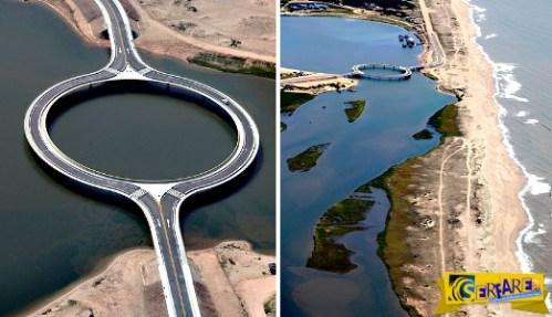 Η κυκλική γέφυρα που κατασκευάστηκε έτσι για να απολαμβάνουν οι οδηγοί την υπέροχη θέα!