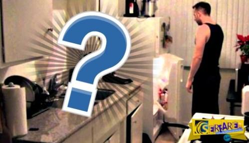 Αναρρωτιόταν πως χάνεται το γάλα από το ψυγείο και έβαλε κάμερες. Πολύ αστείο αυτό που ανακάλυψε!