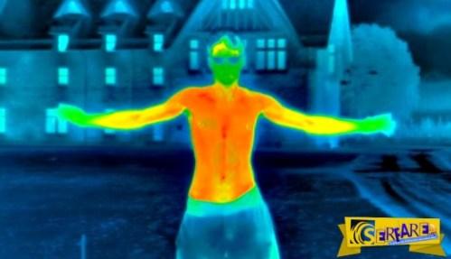Μοναδικό βίντεο: Πόσο γρήγορα χάνουμε θερμότητα στο κρύο