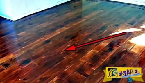 Σας μοιάζει με απλό ξύλινο πάτωμα; Ετοιμαστείτε να πάθετε πλάκα!