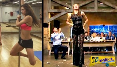 Παναγιωτακοπούλου: Μετά το «καuτό» τσιφτετέλι δείτε τη να κάνει pole dancing!