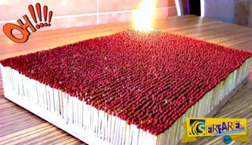 Αυτό συμβαίνει όταν ανάψεις 6.000 σπίρτα – Εντυπωσιακό ντόμινο!
