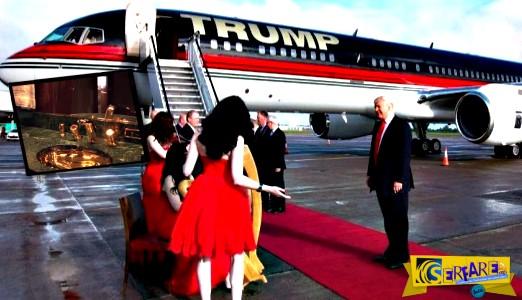 Μέσα στο «ολόχρυσο» αεροπλάνο του Ν. Τραμπ!
