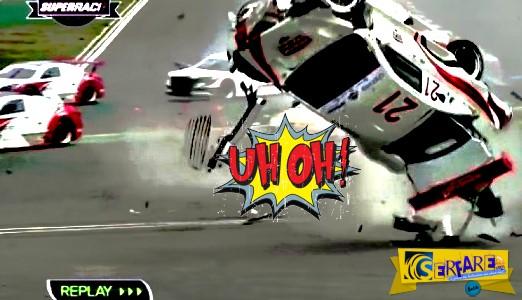 Απίστευτες συγκρούσεις με αγωνιστικά αυτοκίνητα!