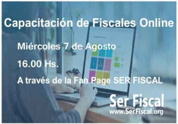 NUEVA CAPACITACIÓN DE FISCALES ONLINE