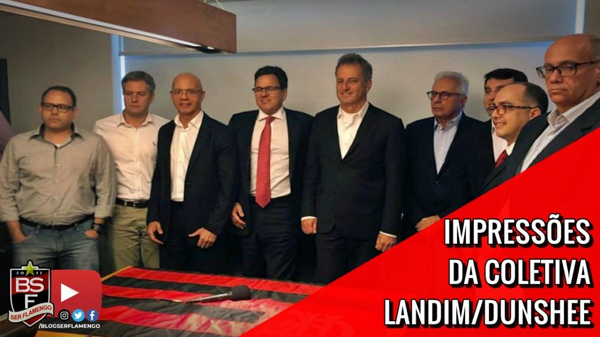 IMPRESSÕES DA COLETIVA RODOLFO LANDIM/RODRIGO DUNSHEE - CANDIDATOS À PRESIDÊNCIA DO FLAMENGO