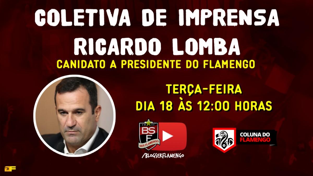 Coletiva de Ricardo Lomba – Candidato à presidência do Flamengo