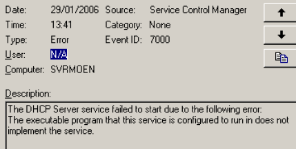 Configured service is not implemented