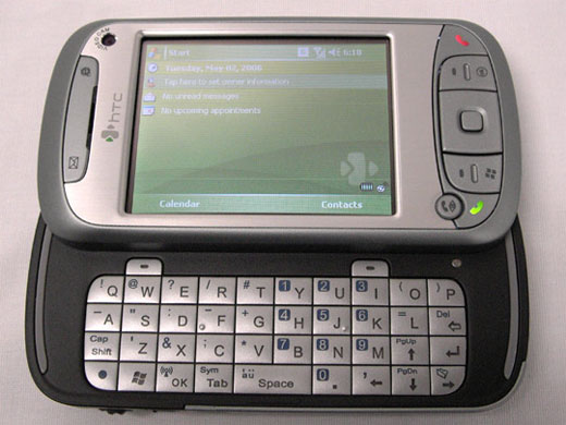 My new HTC TyTN pda