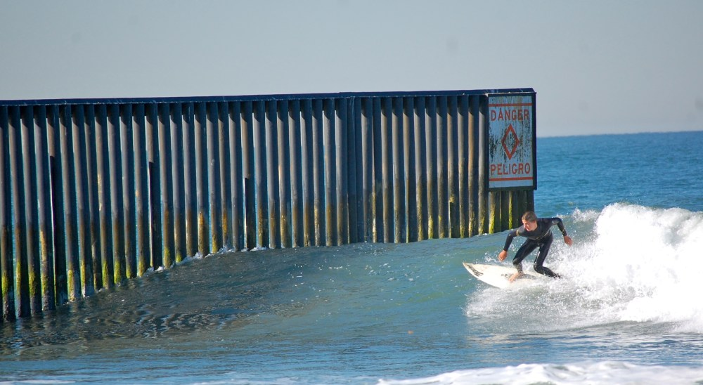 Surfing the U.S.-Mexico Border Fence (1/6)