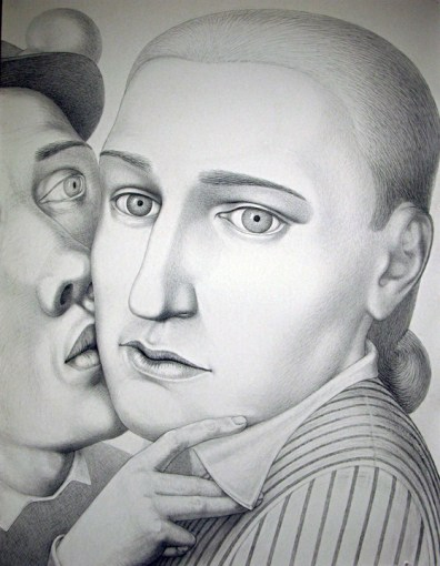"""During 18th Century,"" 2009, charcoal on paper, 60 x 46.5""."