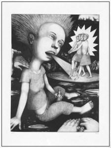 """Princess,"" black state, 2004, image: 24 x 18"", paper: 30 x 22.5""."