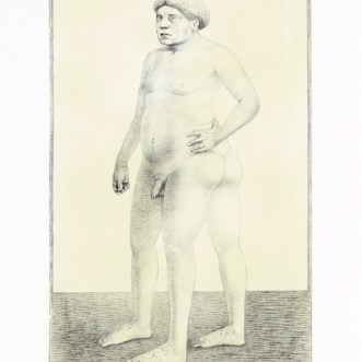 """Daddy,"" 2003, intaglio and siligraphy, image: 24 x 14"", paper: 30 x 19""."