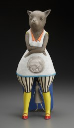 """Two Fish,"" 2011, porcelain, 16 x 7 x 6""."
