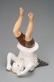 "Sergei Isupov, ""Omen"" 2005, porcelain, slip, glaze, 14 x 7 x 9"". photo: David Stover Photography"