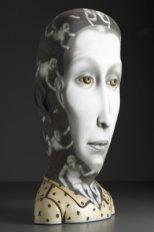 """Invisible Man,"" 2009, stoneware, stain, glaze, 34 x 17 x 13""."