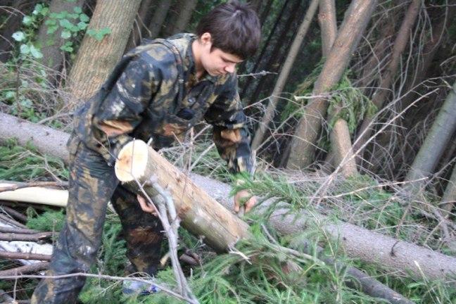 Аяз Шабутдинов валит лес