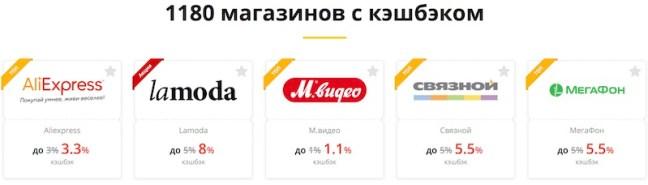 магазины – партнеры в LetyShops