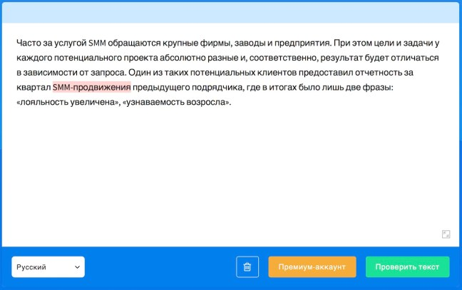 LanguageTool пример