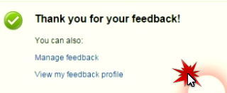 надпись Thank you for you feedback