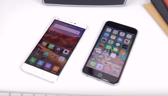 сравнение ми 5 и айфона