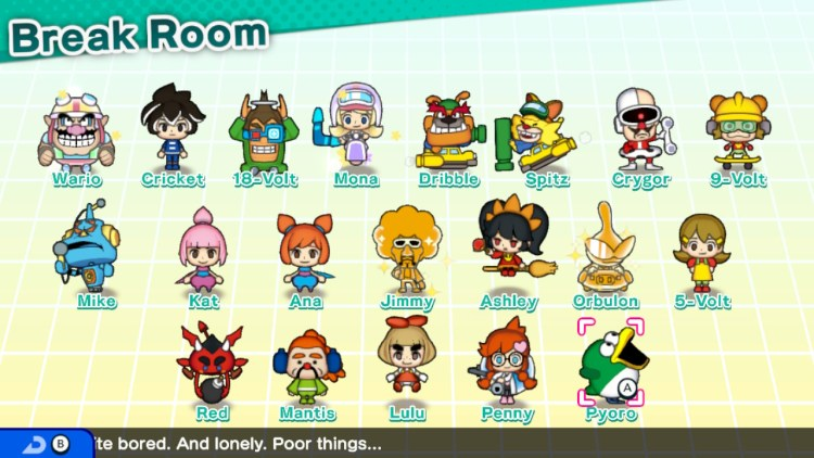 WarioWare Get It Together cute ensemble of characters