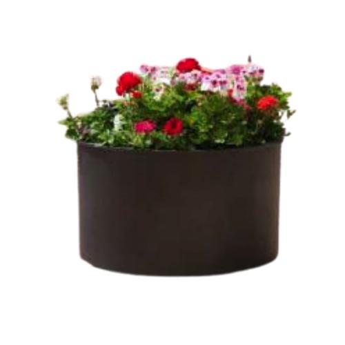 jardinera metálica redonda sergin