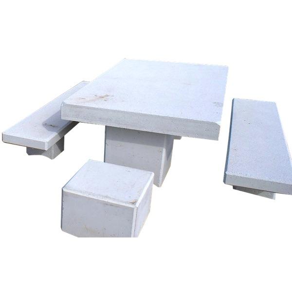 mesa merendero con bancos de hormigon prefabricado