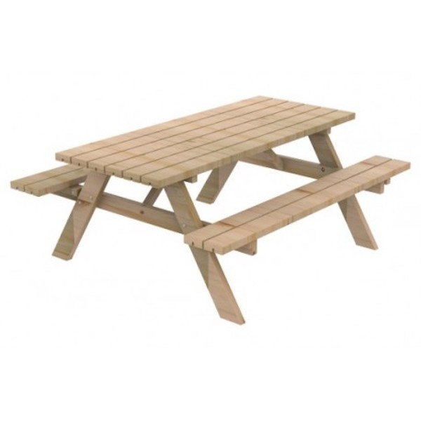 mesa picnic de madera de pino de la marca sergin