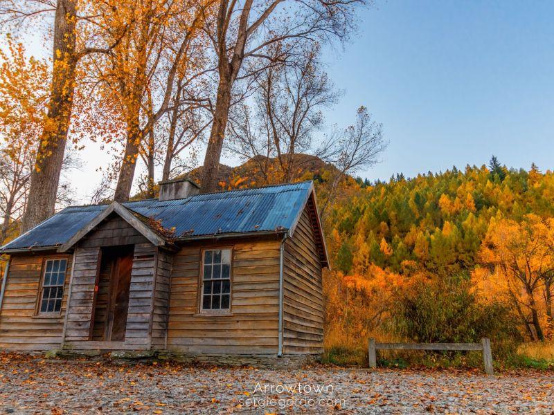vieja casa de madera cazadores nueva zelanda